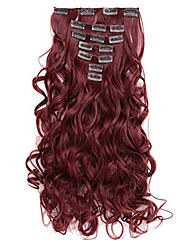cheap -Curly Full Head Clip in Synthetic Hair Extensions 7pcs 140g