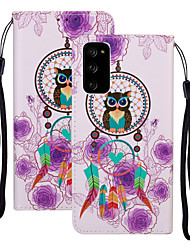 cheap -Case For Samsung Galaxy S20 Plus / S20 Ultra / S20 Shockproof Full Body Cases Animal / Cartoon PU Leather / TPU