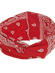cheap -assorted paisley print wide bandana knot headbands criss cross head wrap hair band (red)