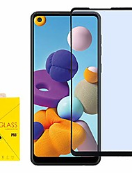 cheap -- for samsung galaxy a21 (sm-a215) - full adhesive tempered glass screen protector - black