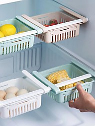 cheap -Basket Fridge Organizer Refrigerator Retractable Drawer Telescopie Design 5pcs Refrigerator Container Box Shelf 3pcs 1pc Holder Food Fruit Oganizer Storage Bin Tray Kitchen