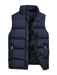 cheap -men's sleeveless quilted gilet jacket body warmer waistcoat blue xl