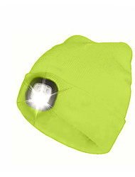 cheap -LED Beanie Hat with Light Rechargeable Super Bright Emitters with USB Cable Rechargeable Super Bright Soft Adjustable Comfortable Soft touch Navy fluorescent yellow White