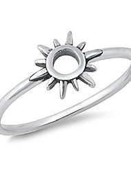 cheap -boho open sun ring new .925 sterling silver band size 4