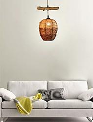 cheap -1-Light 15 cm Eye Protection Chandelier Wood / Bamboo Wood / Bamboo Vintage 110-120V / 220-240V