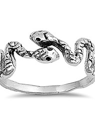 cheap -snake animal wrap thumb ring new .925 sterling silver band size 4