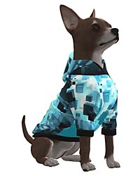cheap -Dog Hoodie Graphic Optical Illusion 3D Print Ordinary Fashion Casual / Daily Dog Clothes Puppy Clothes Dog Outfits Breathable Blue Costume for Girl and Boy Dog Polyster S M L XL