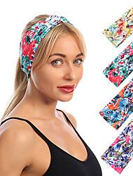 cheap -4pcs Headbands Hair Accessories Spandex Terylene Wigs Accessories Women's Casual flower headband