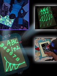 cheap -1PC 2 in 1 LED Luminous Drawing Board Magic Draw With Light-Fun Fluorescent Pen Educational Toy Graffiti Doodle Drawing Tablet