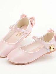 cheap -Girls' Flats Princess Shoes PU Little Kids(4-7ys) Big Kids(7years +) Daily Walking Shoes White Pink Spring Fall