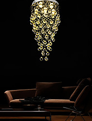 cheap -45cm LED Crystal Chandelier Modern Luxury Ceiling Light DIY Modernity Luxury Globe K9 Crystal Pendant Lighting Hotel Bedroom Dining Room Store Restaurant LED Pendant Lamp Indoor Lighting