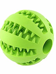 cheap -pet dog iq treat ball, interactive food dispensing dog toy, non-toxic natural rubber tooth cleaning toy, training toys for medium large dogs