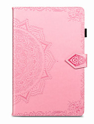 cheap -Phone Case For Samsung Galaxy Full Body Case Tab S6 Lite (SM-P610/615) Samsung Galaxy Tab A7 2020 T500/505 Shockproof Embossed Solid Colored PU Leather TPU