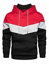 cheap -contrast long sleeve pullover blend fleece hoodie active sweatshirt with pocket for men & women