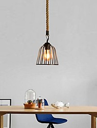 cheap -1-Light 18 cm Mini Style Pendant Light Hemp Rope Painted Finishes Traditional / Classic / Nordic Style 220-240V