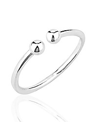 cheap -925 sterling silver round balls thin line wrap around band knuckle midi or thumb ring 3mm, sizes 2-3