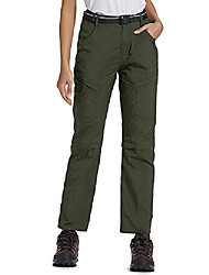 cheap -hiking pants for women convertible lightweight zip off quick dry outdoor stretch pants upf 50+,6063, army,38