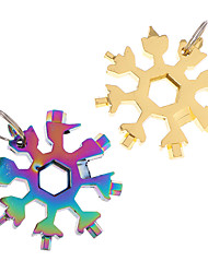 cheap -18 In 1 Snowflake Tool Card Combination Multifunctional Snowflake Screwdriver Snowflake Wrench Tool Snowflake Tool Card 2pcs