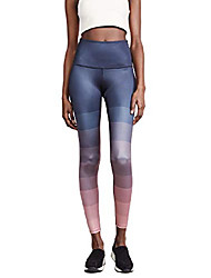 cheap -women's engineered luxe midi leggings, island ombre, blue, pink, medium