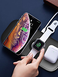 cheap -Factory Outlet 17.5 W Output Power 3 in 1 Wireless Chargers Wireless Charger Fast Charge NULL For Cell Phone Apple iPhone 12 11 pro SE X XS XR 8 Samsung Glaxy S21 Ultra S20 Plus S10 Note20 10 iWatch