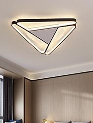 cheap -50 cm LED Ceiling Light Modern Triangle Geometric Shapes Black White Flush Mount Lights Metal Painted Finishes Living Room Bedroom Dining Room Office 110-120V 220-240V