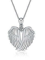 cheap -angel wings necklace 925 sterling silver guardian angel wings pendant necklace for women jewelry gifts