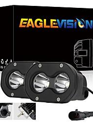 cheap -2Pcs LED Pods Lights Driving Lights Fog Lights Work Light Headlights LED Driving Lights Spot Beam LED White Light For Car Motorcycle Trucks SUV ATV