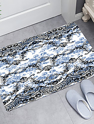 cheap -Black Blue Retro Pattern Digital Printing Floor Mat Modern Bath Mats Nonwoven  Memory Foam Novelty Bathroom