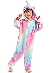 cheap -women's sleepwear kids unicorn onesie animal one-piecepajamas halloween cosplay costume sleepwear (3t,a(star-1))