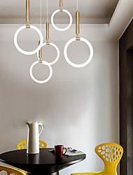 cheap -20 cm Circle Design Pendant Light Metal Silica gel Artistic Style Circle Geometrical Electroplated LED Modern 110-120V 220-240V
