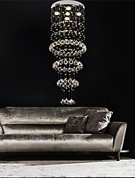 cheap -40cm Crystal Chandelier Luxury Ceiling Light DIY Modernity Globe K9 Crystal Pendant Lighting Hotel Bedroom Dining Room Store Restaurant LED Pendant Lamp Indoor Crystal Chandeliers Lighting