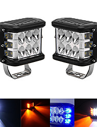 cheap -4inch 45W Side Shooter Off Road Dual Side Work Light Combo Led DRL with Flash Strobe Function Driving Flood Work Light Bar For Tractors Boat 4x4 Truck SUV ATV Fog Lamp