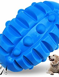 cheap -squeaky dog toys for aggressive chewers almost indestructible,  rubber dog squeaking toys tough durable interactive puppy ball pet chew toys for medium and large breed blue