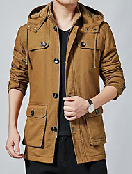 cheap -men's shirt jacket button down shirts casual corduroy thicken fleece shirt coat coffee l