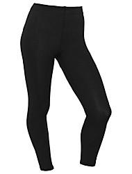 cheap -ladies thermal leggings inner fleece long - inner fleece extra warm - opaque black 40/42