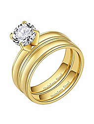 cheap -matt stainless steel wedding band 3mm engagement ring size 6 to 10 (gold, 9)