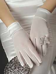 cheap -Satin Suit Length Glove Elegant / Simple Style With Solid
