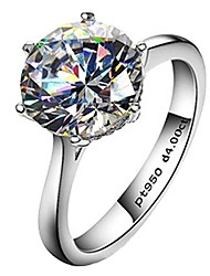 cheap -4ct round brilliant nscd sona simulated diamond solitaire wedding engagement ring - finger size 4
