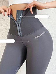 cheap -Women's High Waist Running Tights Leggings Athletic Base Layer Bottoms Nylon Spandex Winter Gym Workout Running Jogging Training Exercise Tummy Control Butt Lift Breathable Sport Solid Colored Black