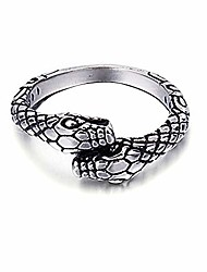 cheap -925 sterling silver ring, snake for women men vintage boho fashion band jewelry comfort fit