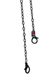 cheap -2pcs Mask Chain Daily Use Glasses Chain Mask Hanging Chain Black Acrylic BFF Good Friend Girlfriend Sunglasses Chain Dual-Use Hanging Neck