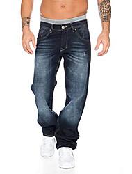 cheap -men's jeans trousers denim blue straight-cut straight rc-2091 dark blue w38 l36