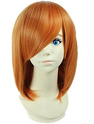 cheap -cosplay wigs short straight bob lovely orange girls dress up anime show party hairs