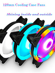 cheap -Rgb Cover Fan 120mm 3 Pin Cooling Fans Blue Red White Colors Computer Cooling Fan Radiator Fan