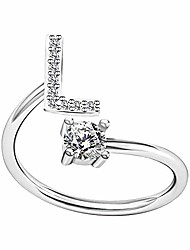 cheap -ring gifts a to z alphabet ring couple silver/gold stackable adjustable letter ring charm initial band for women