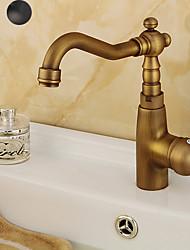 cheap -Kitchen faucet - Single Handle One Hole Antique Copper / Electroplated Standard Spout Centerset Contemporary / Antique Kitchen Taps
