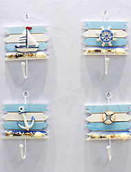 cheap -Mediterranean Retro Decoration Ocean Style Small Hook Sailboat Hanging Decoration Ship Anchor Wall Hanging