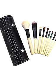 cheap -make up brush set professional foundation blush powder eyeshadow blending brushes cosmetic brush kit beauty brushes with synthetic and vegan bristles nude 9 pcs with box