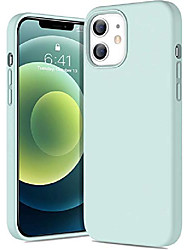 cheap -liquid silicone case compatible with 12 mini 2020, 3 layer silicone case 5.4 inch, supports wireless charging (oceanblue)