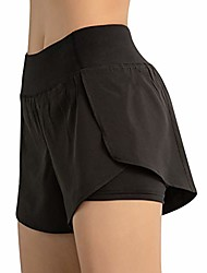 cheap -women 2-in-1 double layer sport running shorts quick dry high elasticity double layer yoga shorts with phone pocket for fitness training